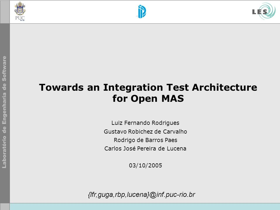 Towards an Integration Test Architecture for Open MAS