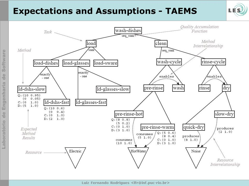 Expectations and Assumptions - TAEMS