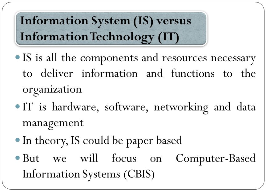 common computer based information systems information technology essay Technology and globalization products based upon, or enhanced by, information technology are used in nearly every aspect of life in contemporary industrial societies computer and information systems managers.