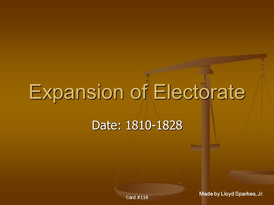 Expansion of Electorate