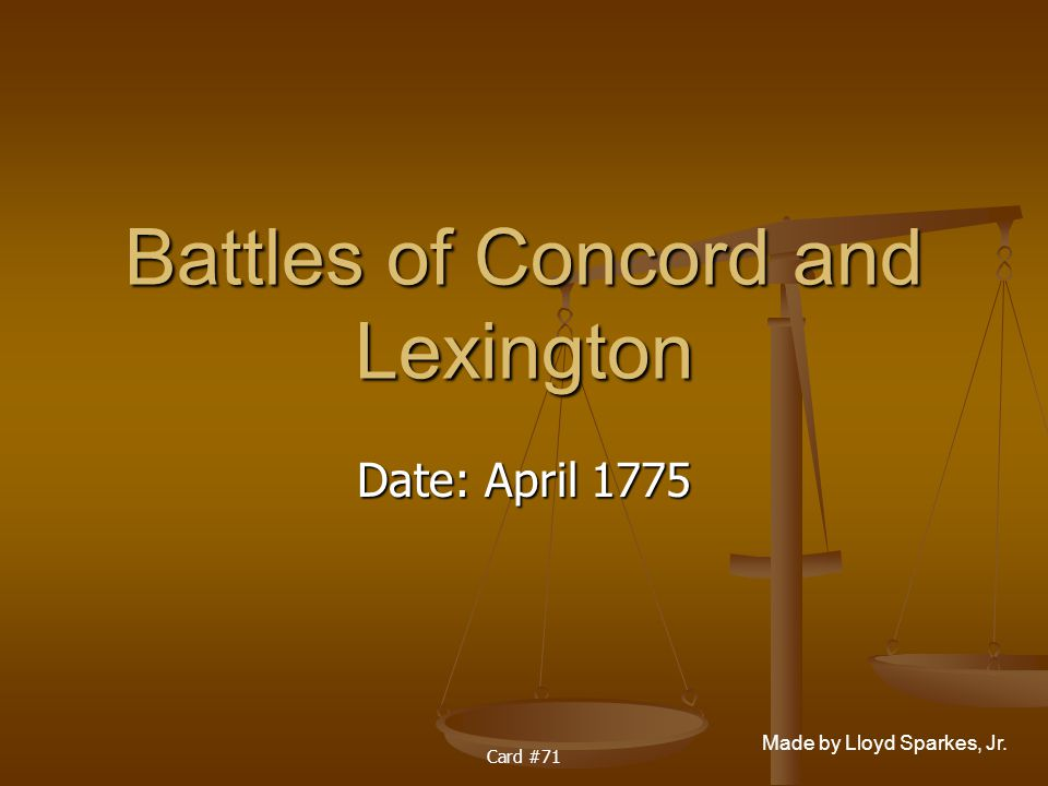 Battles of Concord and Lexington
