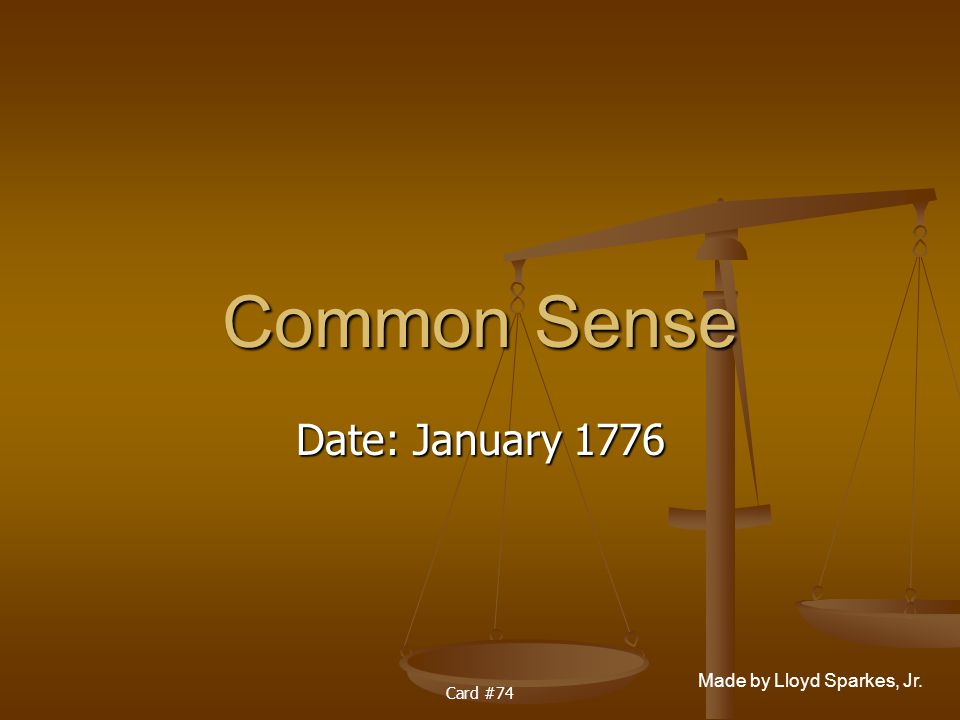 Common sense date in Australia