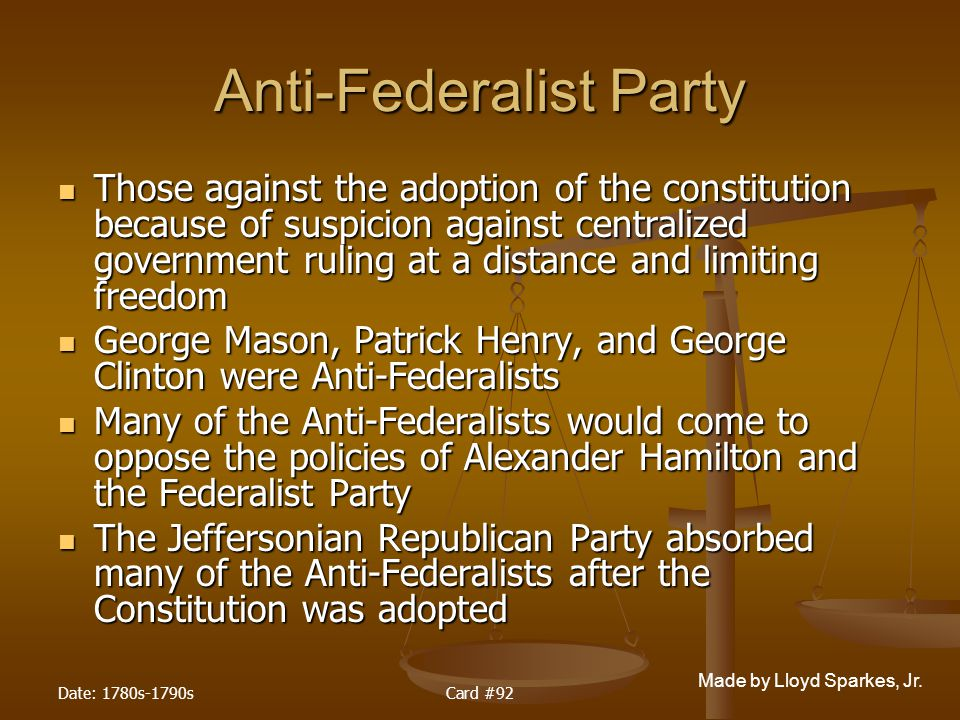 Anti-Federalist Party