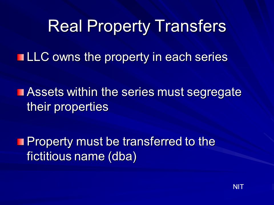 Real Property Transfers