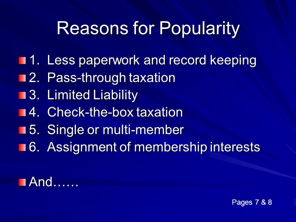 Reasons for Popularity