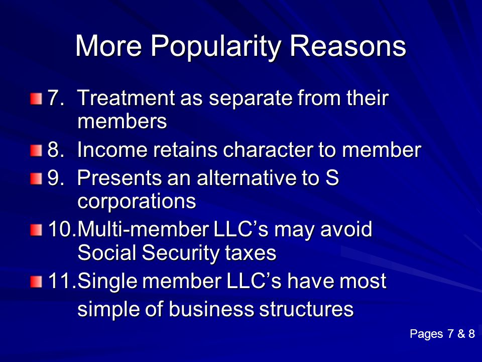 More Popularity Reasons