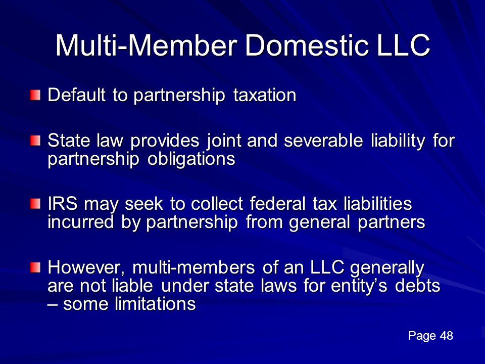 Multi-Member Domestic LLC