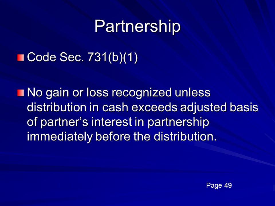 Partnership Code Sec. 731(b)(1)