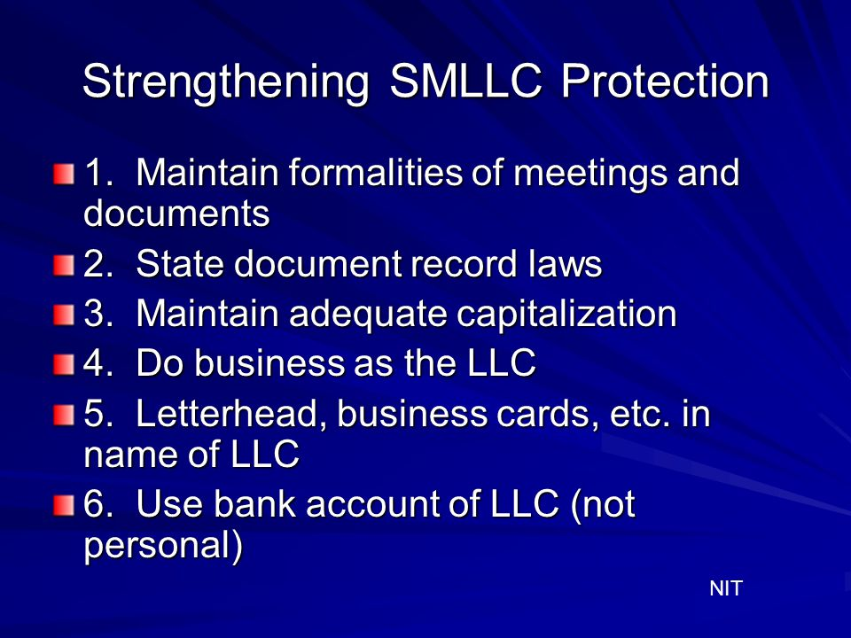 Strengthening SMLLC Protection