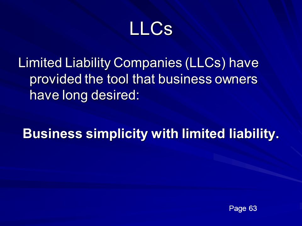 Business simplicity with limited liability.