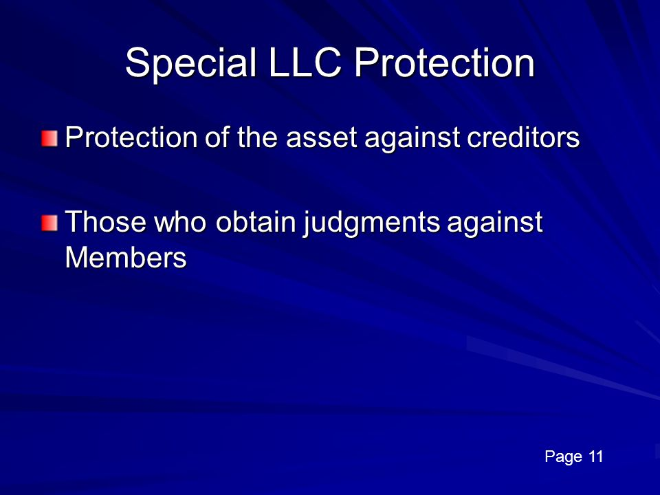 Special LLC Protection