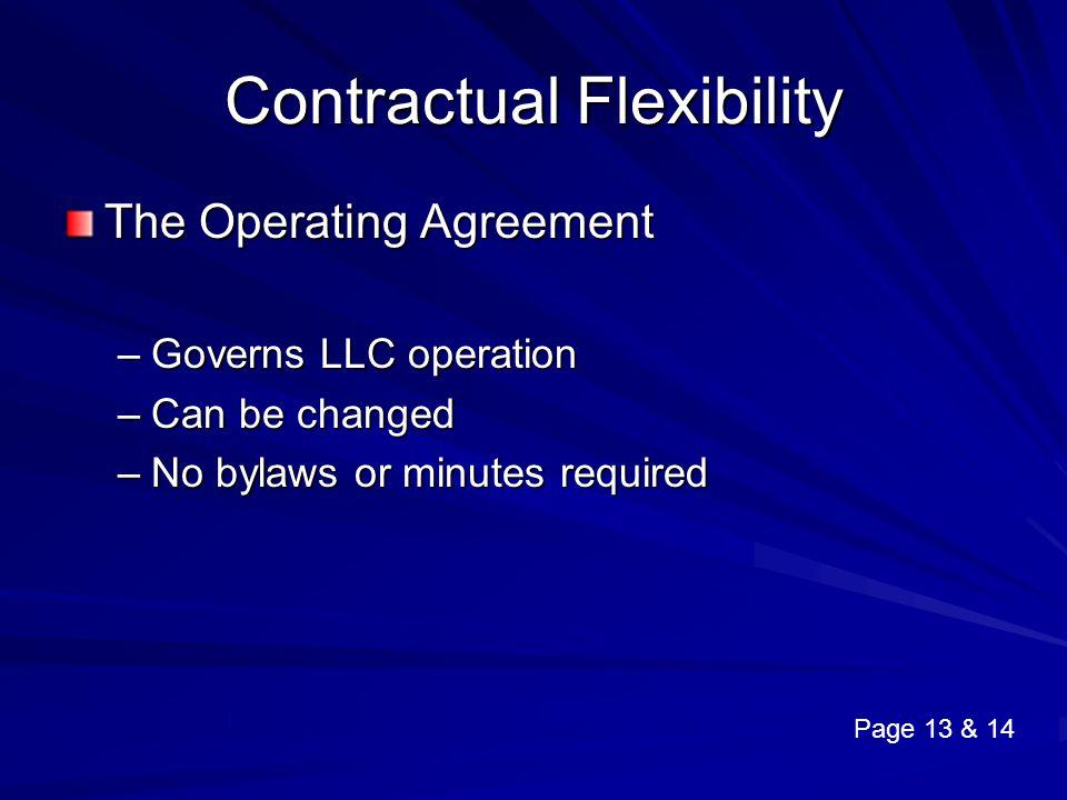 Contractual Flexibility