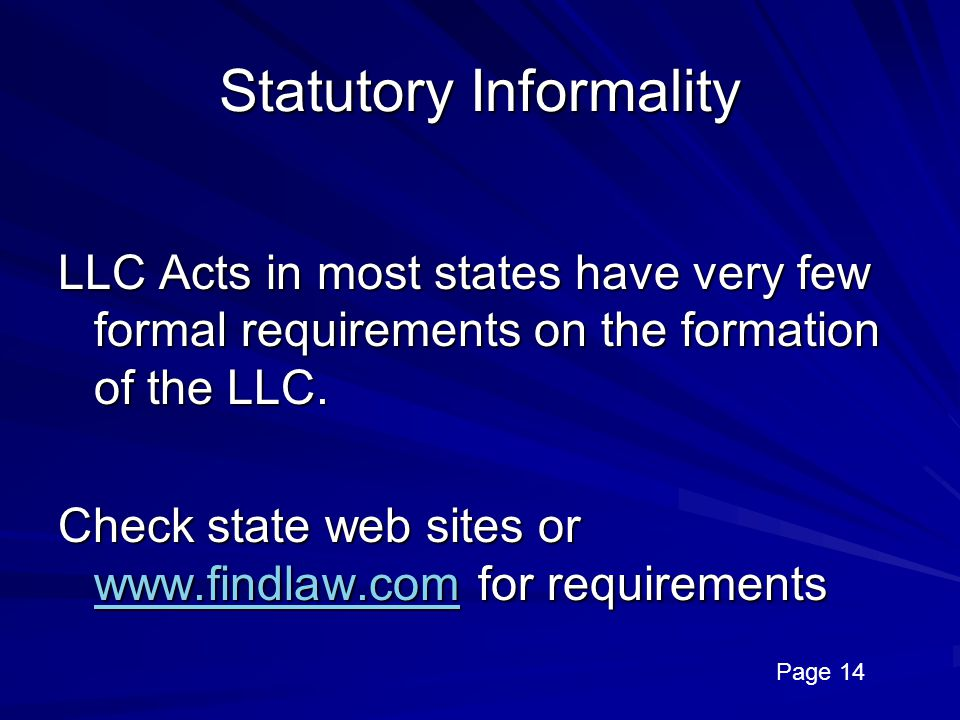 Statutory Informality