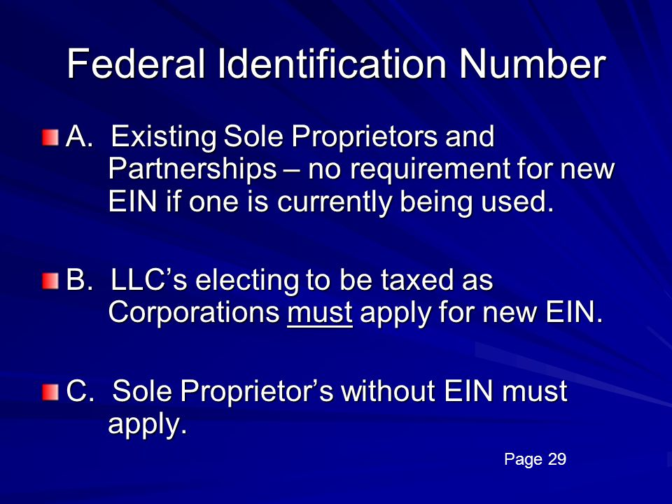 Federal Identification Number