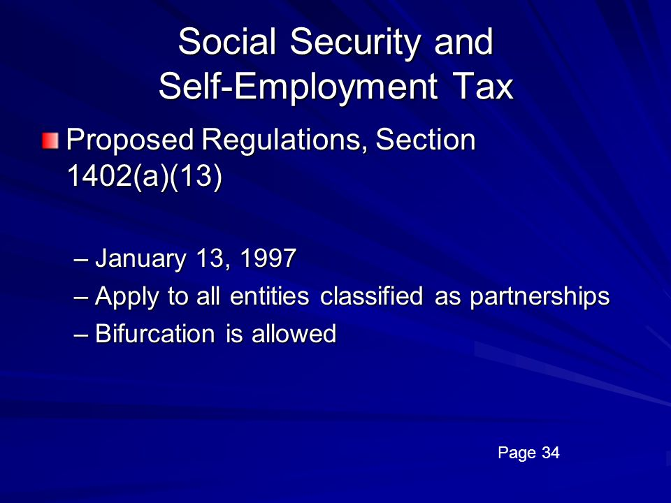 Social Security and Self-Employment Tax
