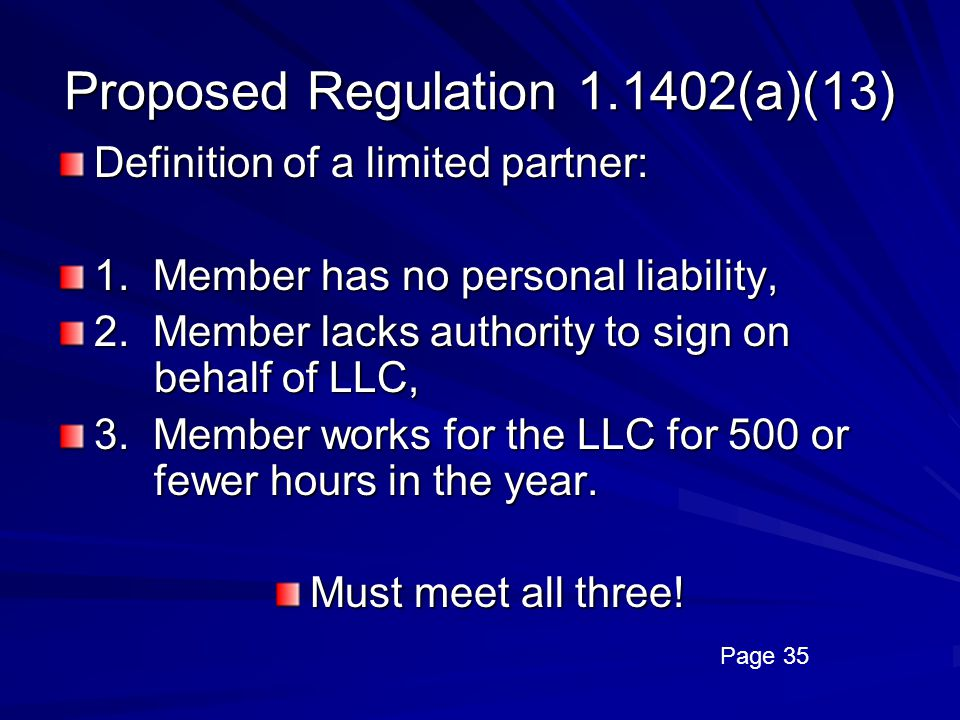 Proposed Regulation 1.1402(a)(13)