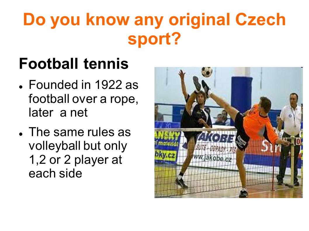 Do you know any original Czech sport