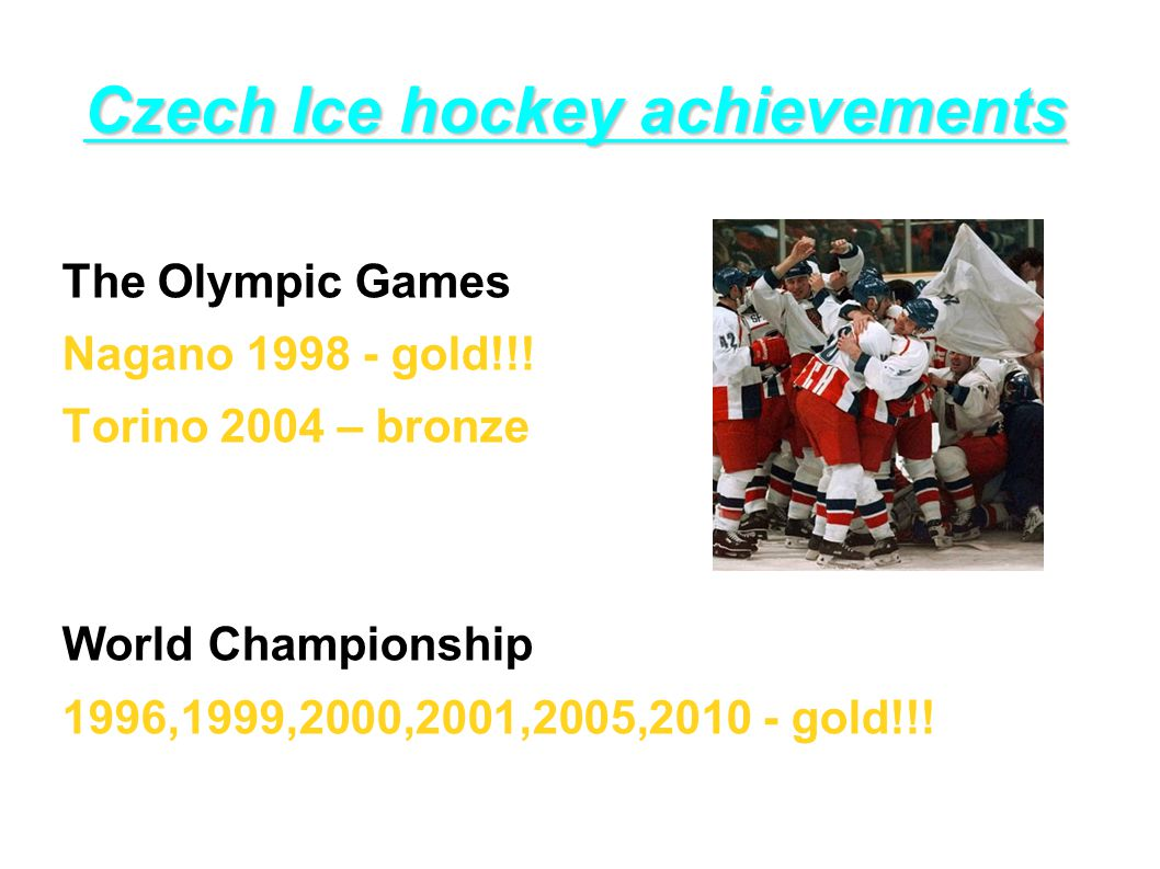Czech Ice hockey achievements