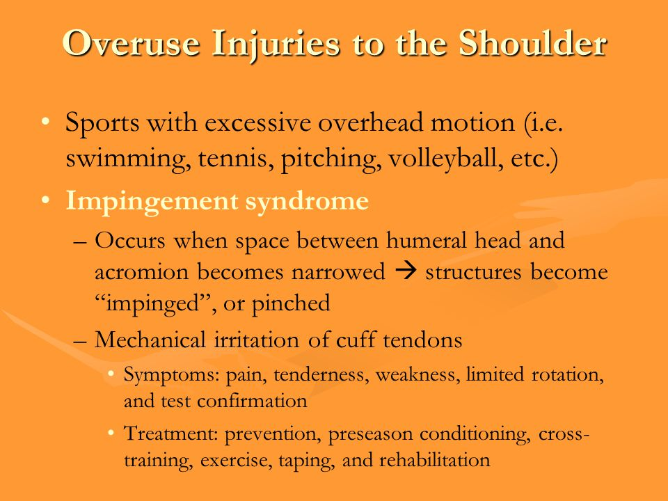 Overuse Injuries to the Shoulder