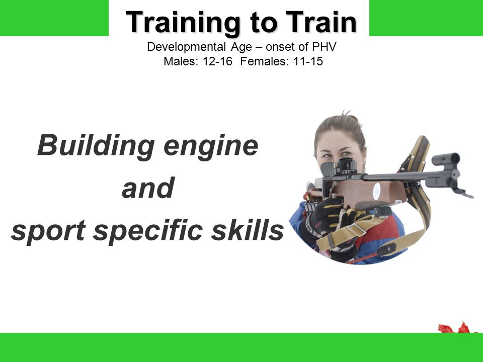 Building engine and sport specific skills