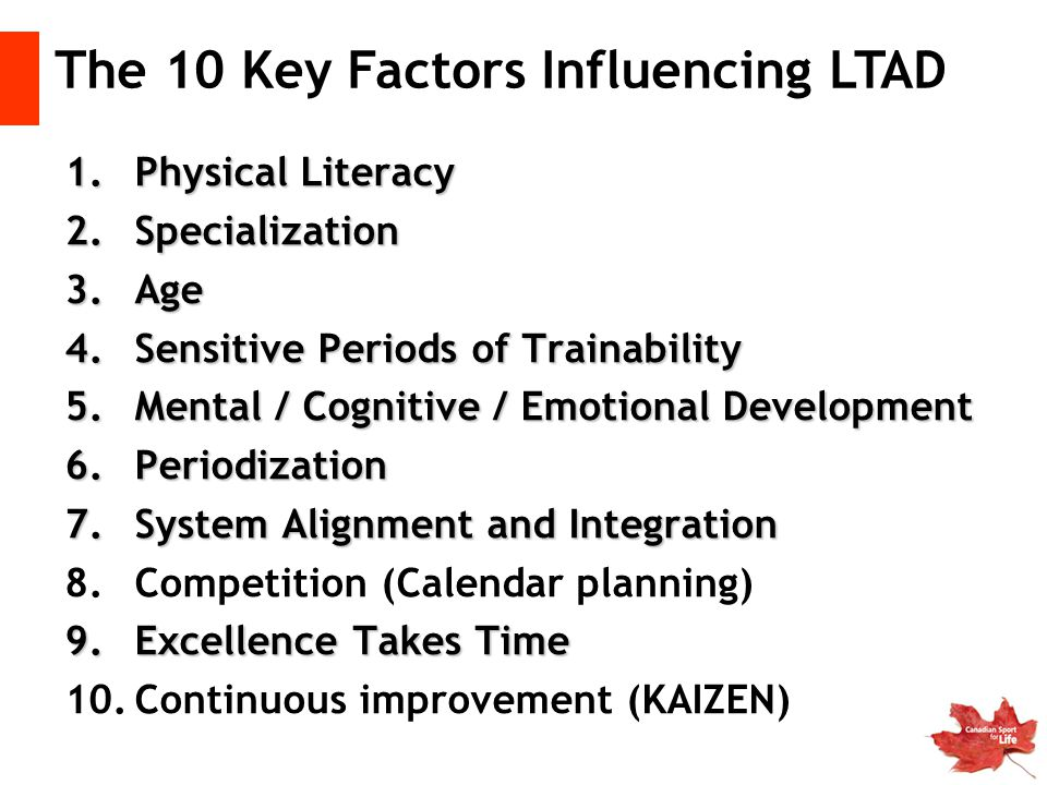 The 10 Key Factors Influencing LTAD