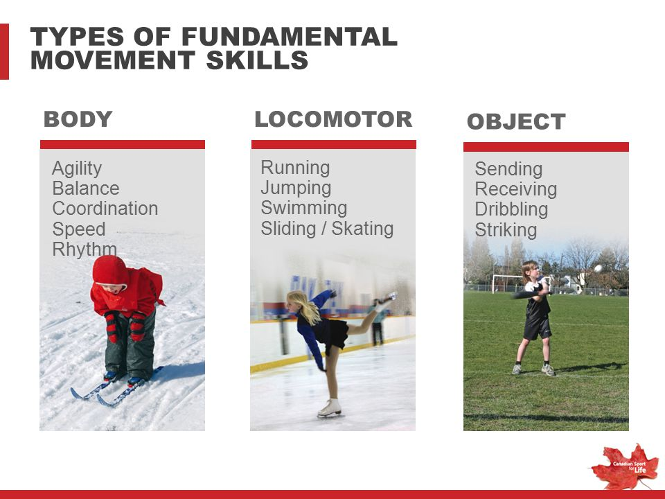 TYPES OF FUNDAMENTAL MOVEMENT SKILLS BODY LOCOMOTOR OBJECT Agility