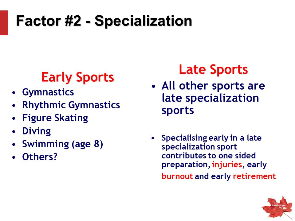Factor #2 - Specialization