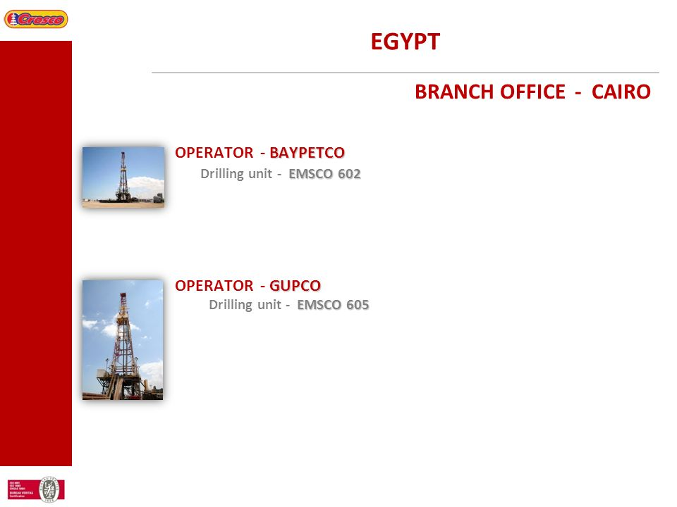 EGYPT BRANCH OFFICE - CAIRO OPERATOR - BAYPETCO