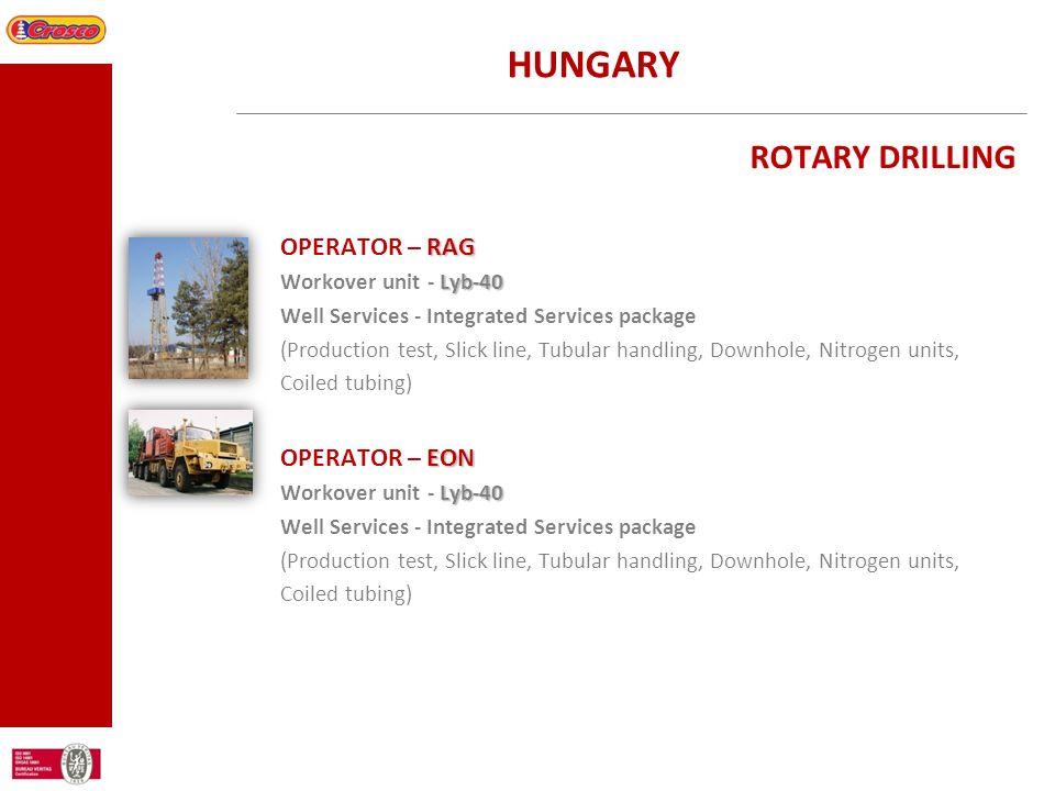 HUNGARY ROTARY DRILLING OPERATOR – RAG OPERATOR – EON