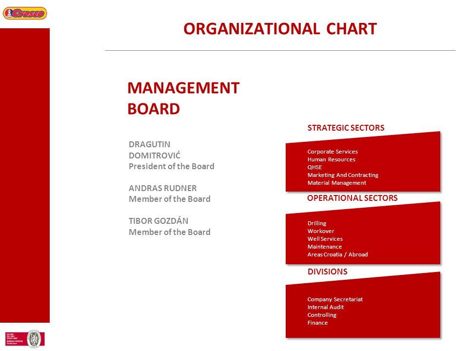 ORGANIZATIONAL CHART MANAGEMENT BOARD STRATEGIC SECTORS