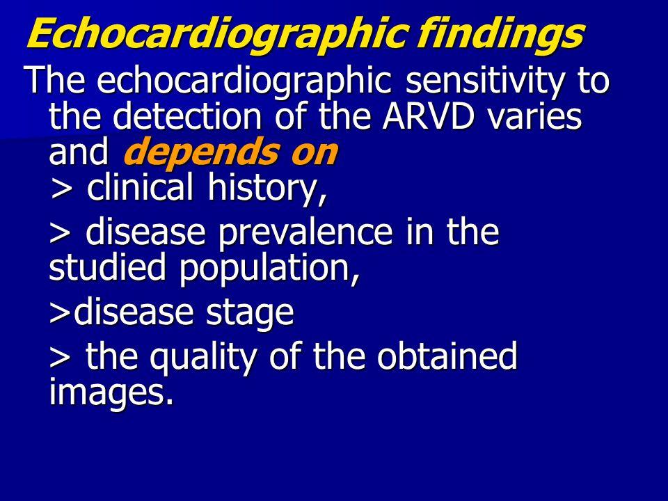 Echocardiographic findings