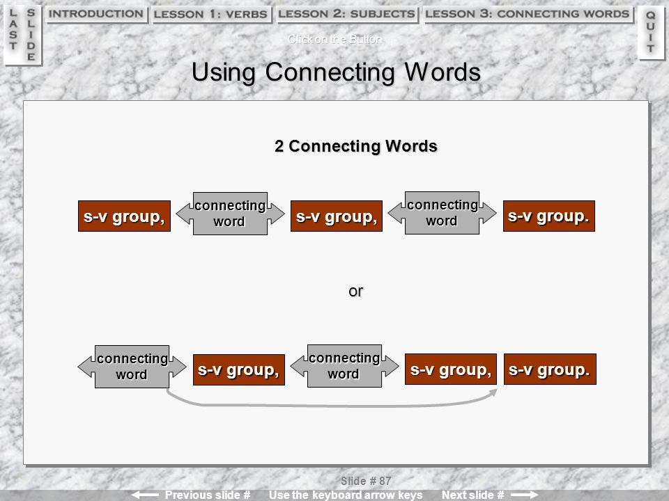 Using Connecting Words