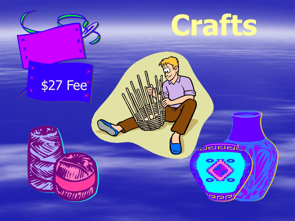 Crafts $27 Fee