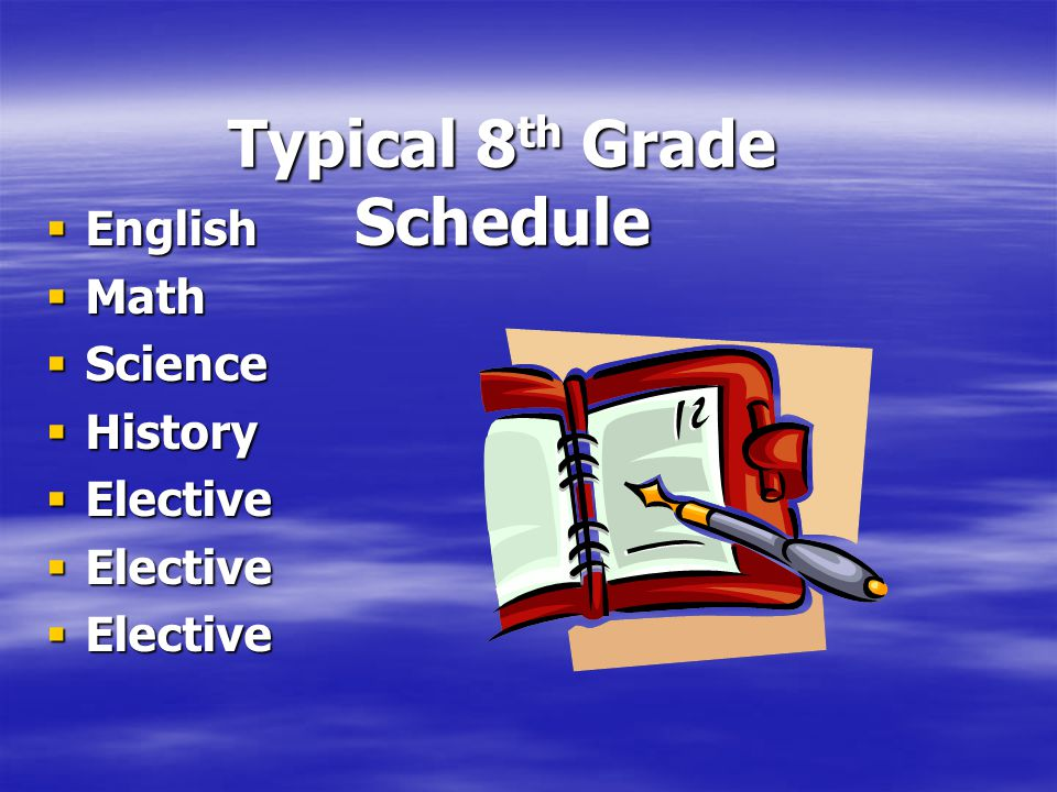Typical 8th Grade Schedule