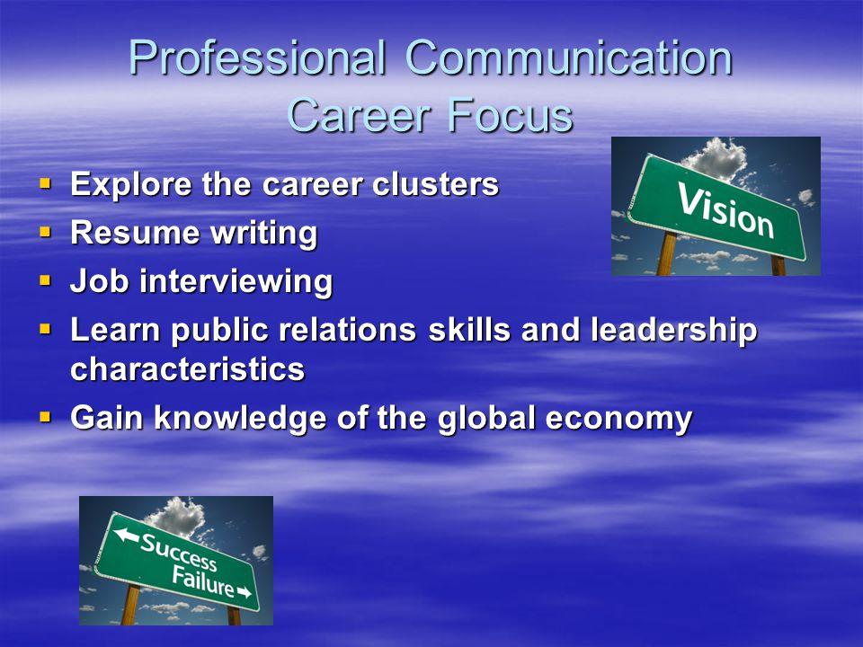 Professional Communication Career Focus