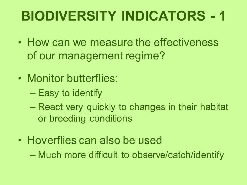 BIODIVERSITY INDICATORS - 1