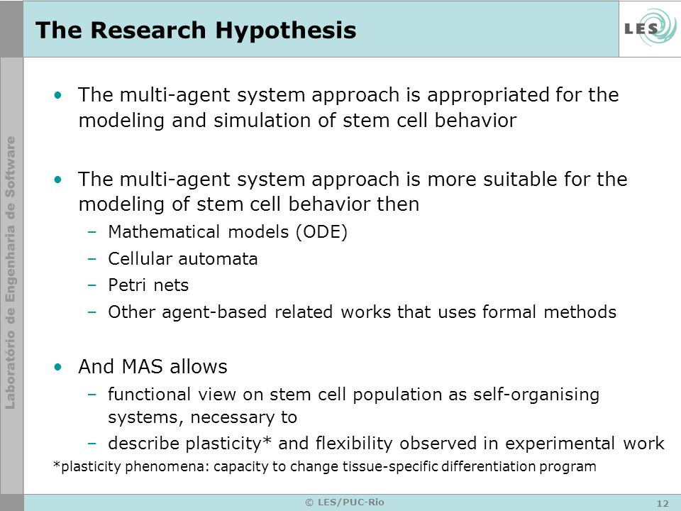 The Research Hypothesis