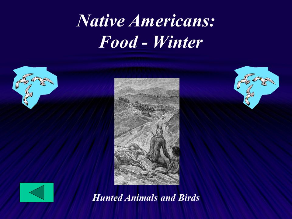 Native Americans: Food - Winter