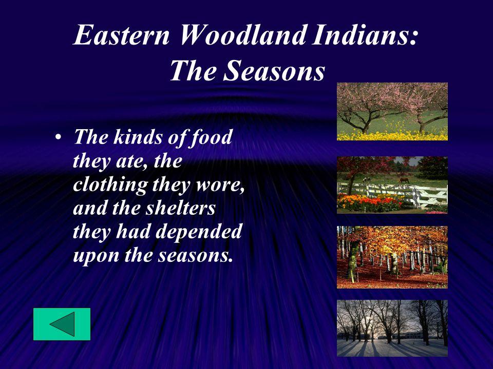Eastern Woodland Indians: The Seasons
