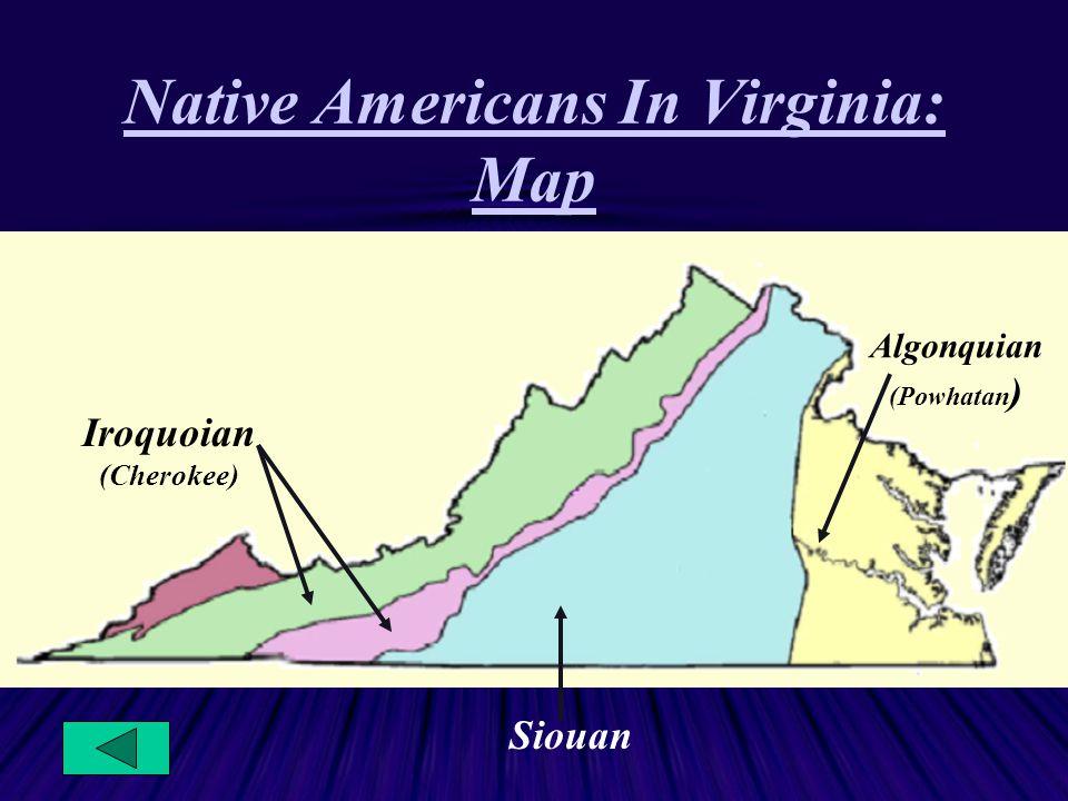 Native Americans In Virginia: Map