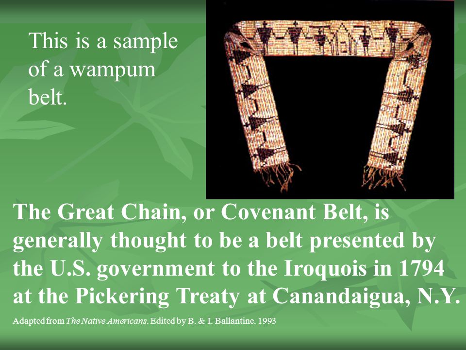 This is a sample of a wampum belt.
