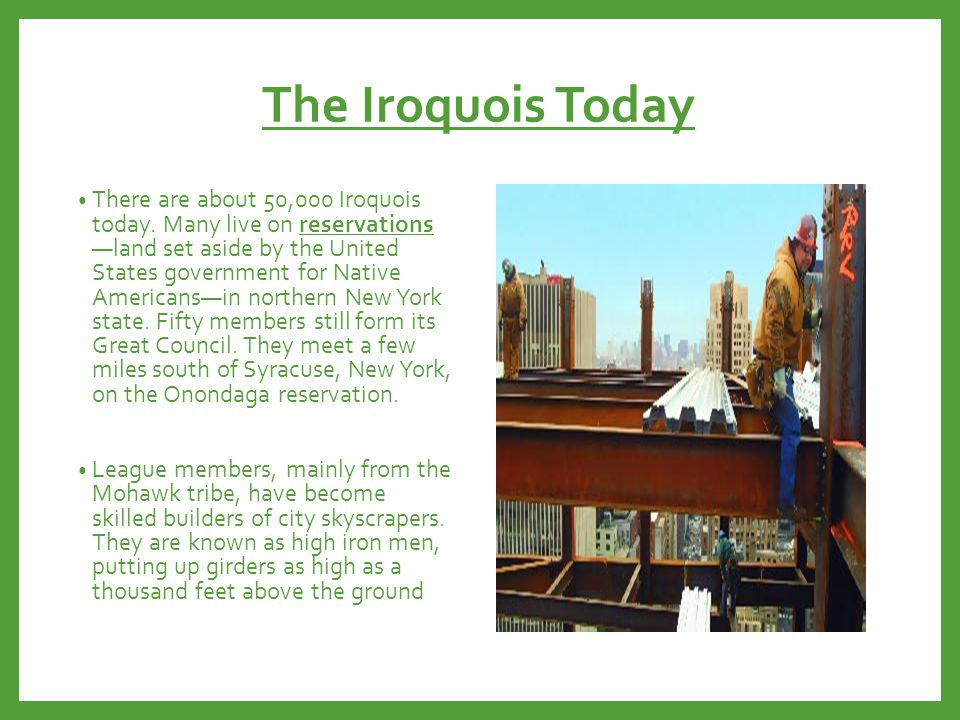 The Iroquois Today