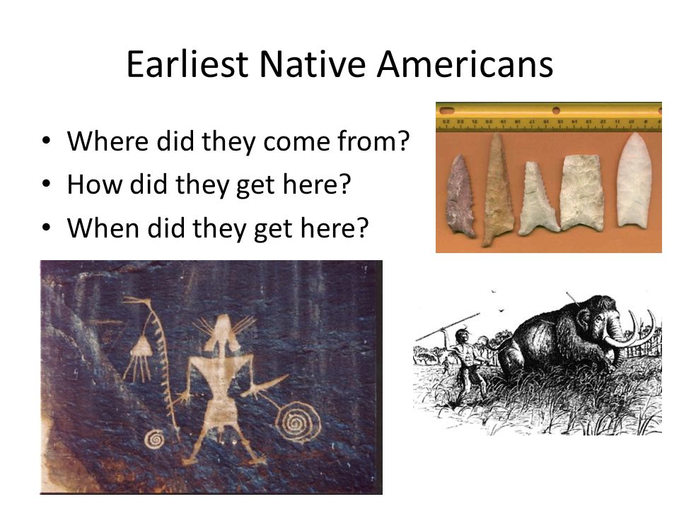 Earliest Native Americans
