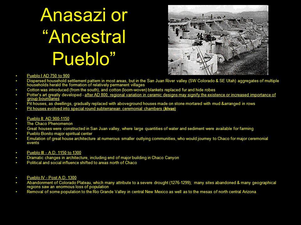 Anasazi or Ancestral Pueblo