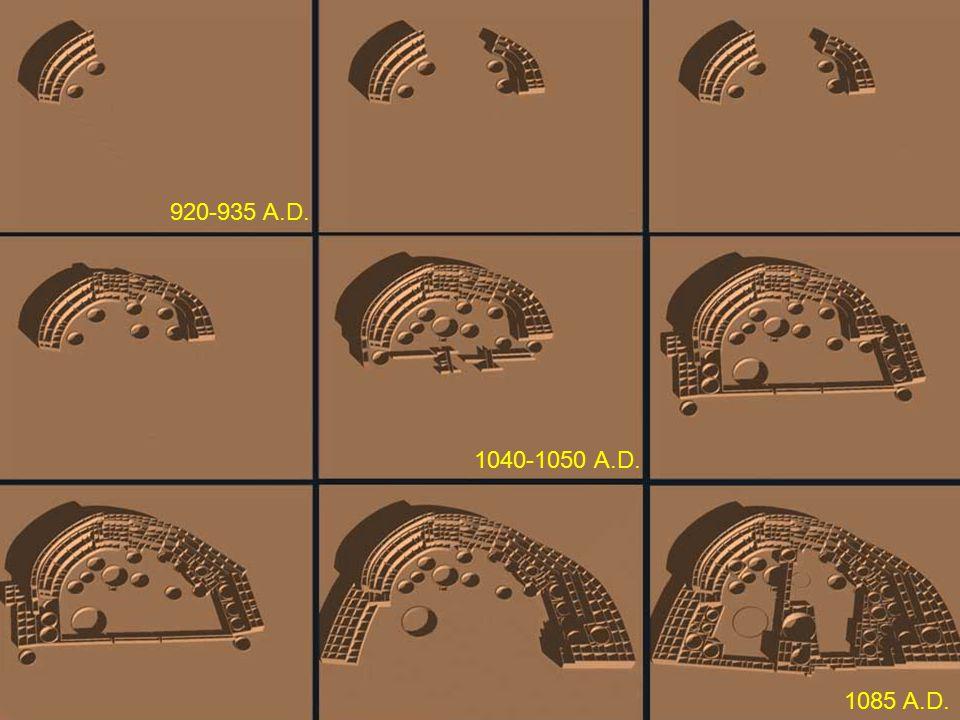920-935 A.D. 1040-1050 A.D. 1085 A.D.
