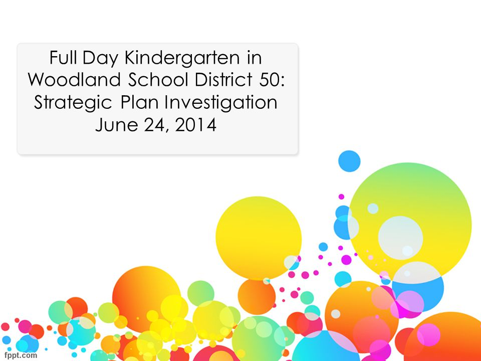 Full Day Kindergarten in Woodland School District 50: Strategic Plan Investigation June 24, 2014