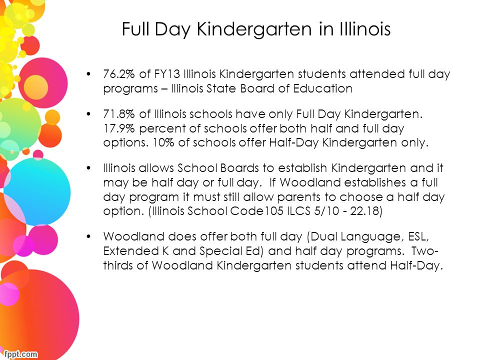 Full Day Kindergarten in Illinois