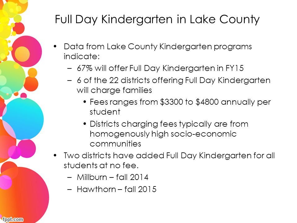 Full Day Kindergarten in Lake County