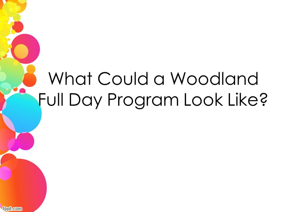 What Could a Woodland Full Day Program Look Like