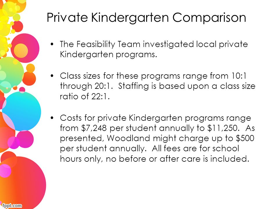 Private Kindergarten Comparison
